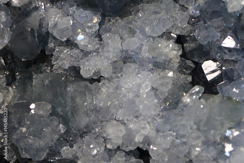Fototapeta white crystal mineral texture
