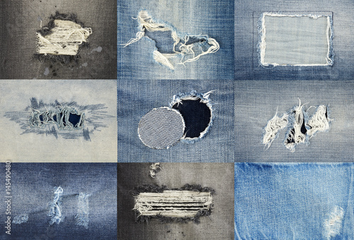 Poster Torn jeans collection
