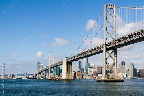 The Bay Bridge and San Francisco Skyline Poster