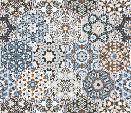 Wektorowy ustawiający heksagonalni wzory.