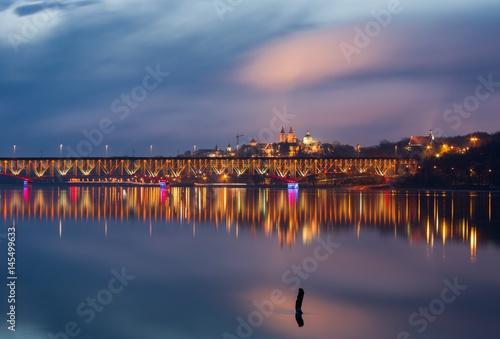 Płock - widok na most i Wzgórze Tumskie