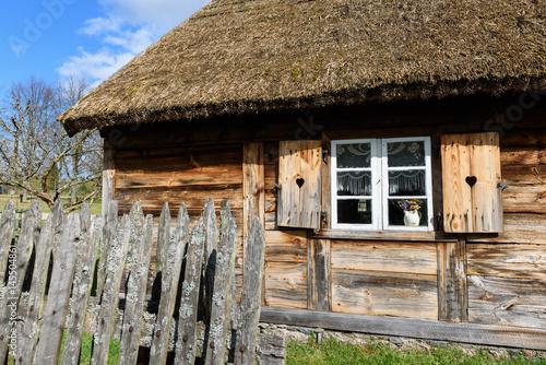 Plagát Old house in Kashubian Ethnographic Park in Wdzydze Kiszewskie