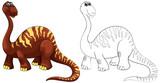 Doodle animal for brachiosaurus