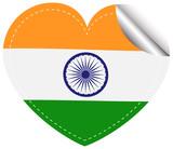Sticker design for India flag