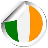 Flag icon design for Ireland
