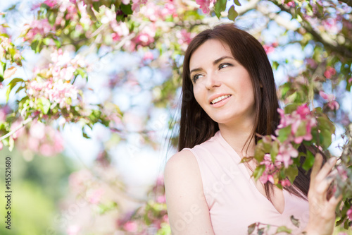 Young woman in the spring