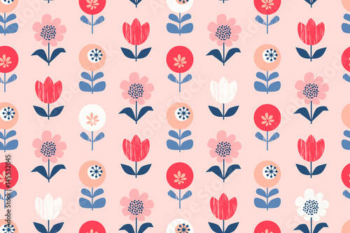 seamless floral pattern - 145532045