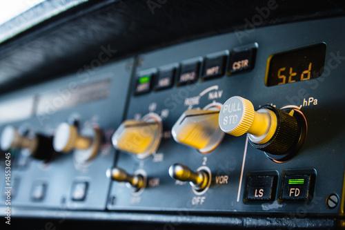 Airbus autopilot instrument panel dashboard Poster