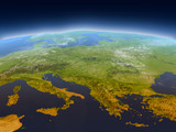 Adriatic sea region from space - 145537461