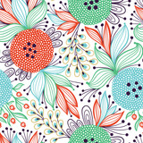 Seamless vector floral pattern - 145539899