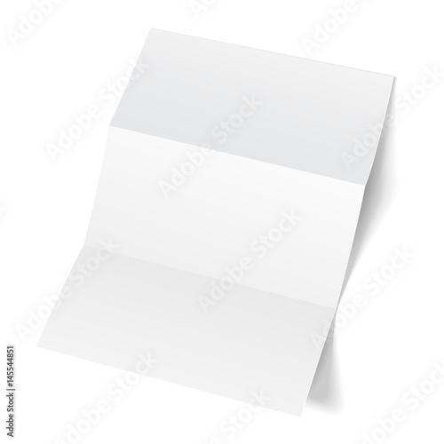 Blank Trifold Paper Leaflet Flyer Broadsheet Flier Follicle