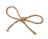 Rope bow isolated on white background - 145547469