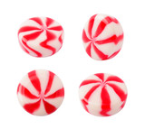 Caramel striped candy set isolated on the white background - 145548292