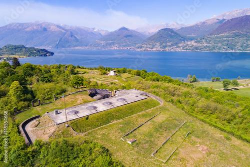 Colico - Lago di Como (IT) - Forte di Montecchio - Vista aerea Poster