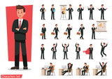 Set of Businessman character design. - 145563436