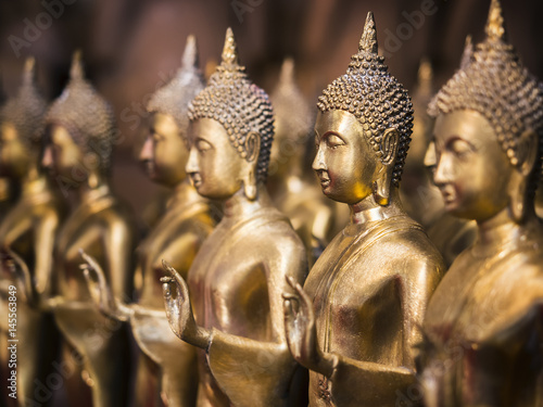 Plakat Gold Buddha Statue Religion Antique collection