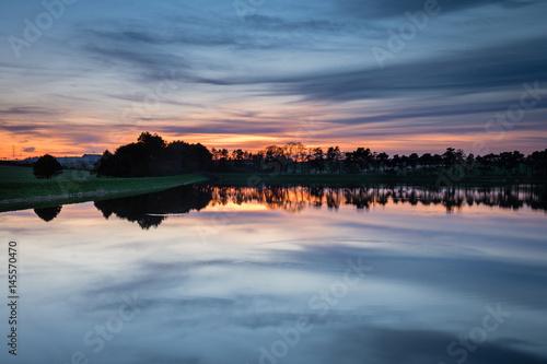 Poster Twilight at Whittle Dene Reservoir / Whittle Dene Reservoir in Northumberland is