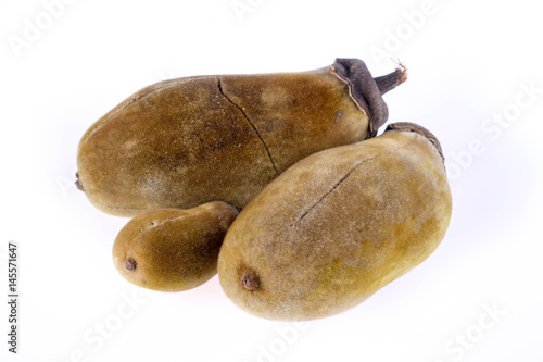 Foto op Canvas Baobab Baobab fruit on a white background