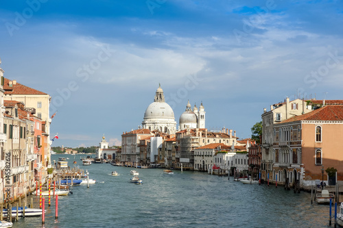 Beautiful view of water street and old buildings in Venice, ITALY Poster