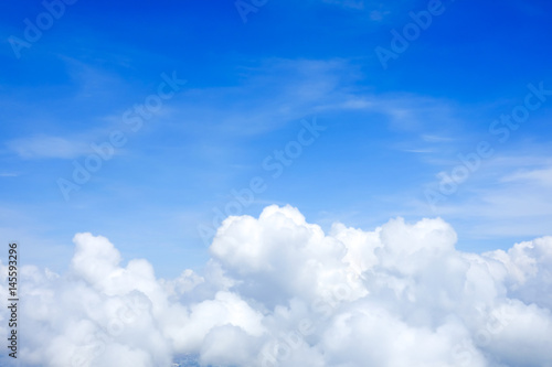 Blue sky above the clouds - 145593296