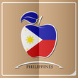 apple logo made from the flag of Philippines - 145595841