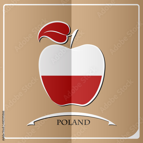 apple logo made from the flag of Poland - 145595866