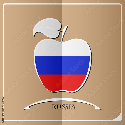 apple logo made from the flag of Russia - 145596000
