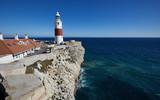 Leuchtturm von Gibraltar, Gibraltar Trinity Lighthouse, eröffnet 1841, an der Südspitze der Halbinsel,