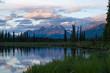 Sunset at Upper Stikine and Chukachida river confluence