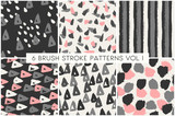 Brush Strokes Pattern Collection - 145613635