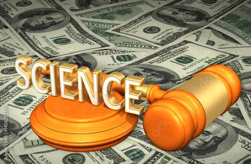 Science Legal Gavel Concept 3D Illustration