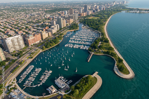 Fotobehang Chicago Belmont Harbor Chicago