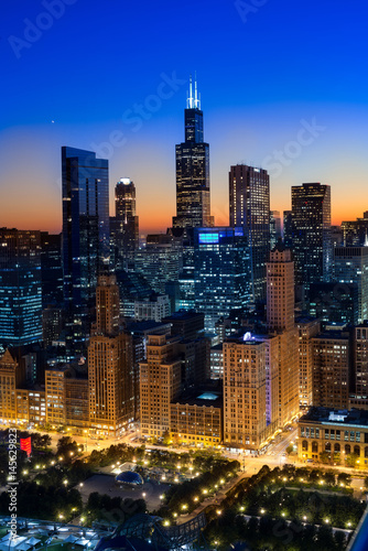 In de dag Chicago City Light Chicago