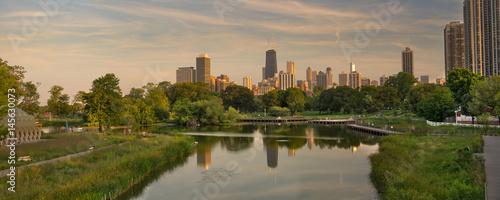 Aluminium Chicago Lincoln Park Chicago Panorama