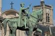 The statue of Étienne Marcel next to Paris' city hall