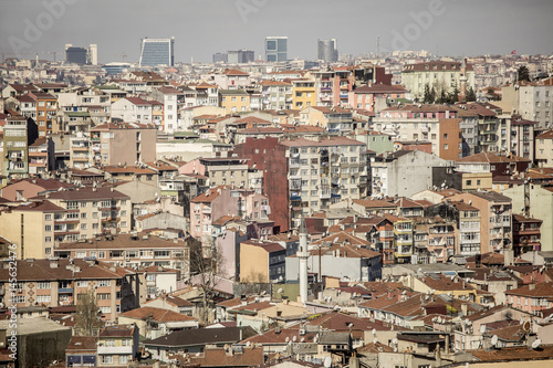 Rows of houses in Istanbul, Turkey - 145632476