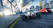 2 Formel Rennwagen von Hinten