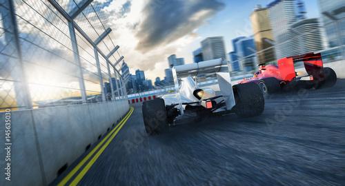 Aluminium F1 2 Formel Rennwagen von Hinten