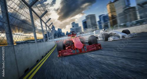 Aluminium F1 2 Formel Rennwagen von Vorne