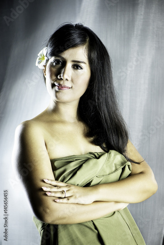 Beautiful Asian Woman Poster