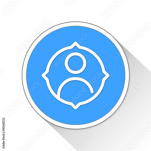 Poster business target Button Icon Business Concept