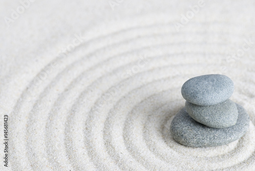 Foto op Canvas Stenen in het Zand Kieselsteine auf Sand, Zen Style