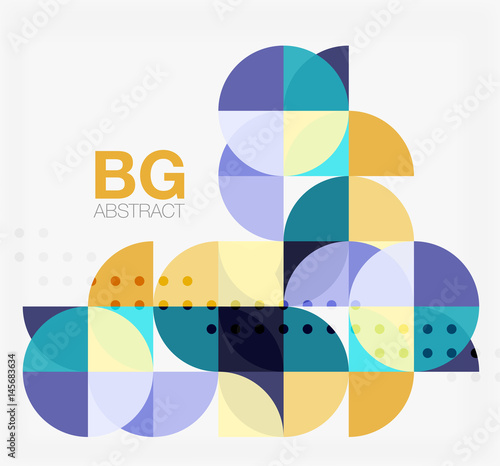 Modern geometrical abstract background - 145683634