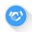 Handshake Button Icon Business Concept