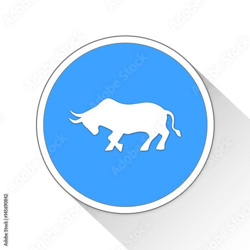 bull Button Icon Business Concept
