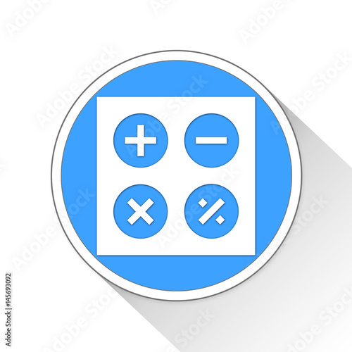 Poster Calculator Button Icon Business Concept