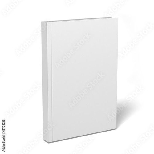 Front magazine book template perspective view on grey background with soft shadows. 3d render illustration.