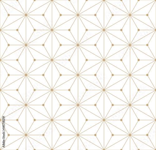minimal sacred geometry graphic seamless pattern print - 145718219