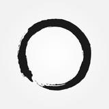 Fototapety Buddhism symbol drawn with a brush. Round sign Zen.