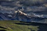 Snowy mountain peak, Montana.
